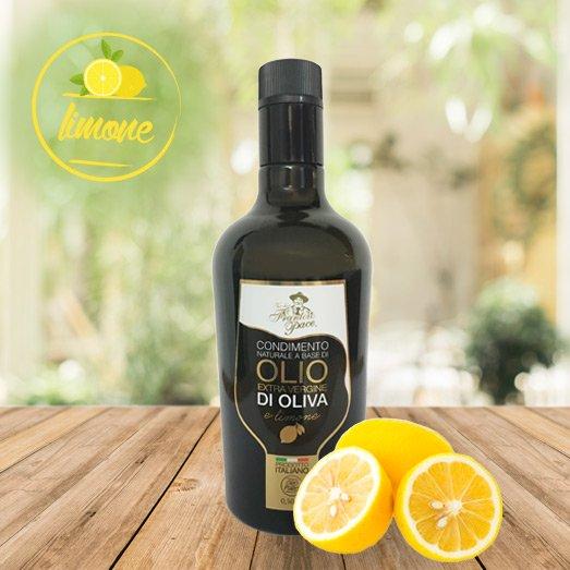 Condimento con Olio EVO e limone 0.5 lt - Bottiglia in vetro - Vecchio Frantoio Pace
