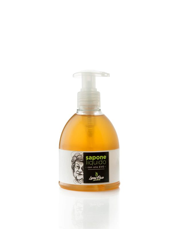 Organic Liquid Soap with EVO Oil 250ml - Face and hands - Frantoio Leone Pace - Oil since 1910 - Frantoio Pace - Olive Miller