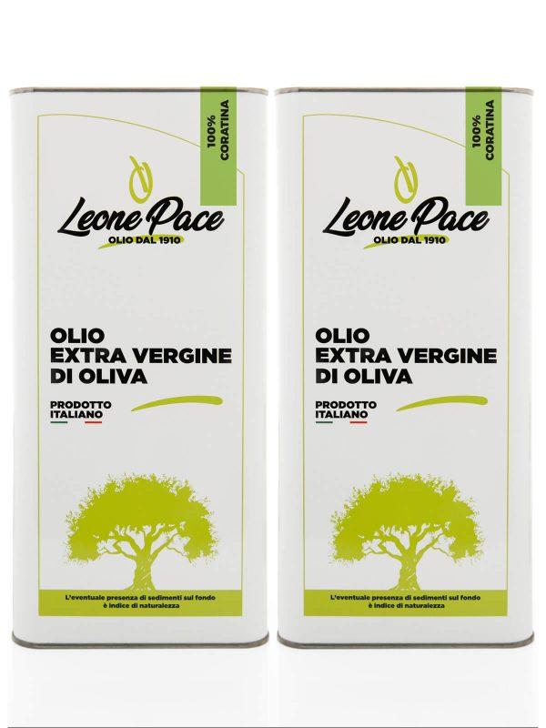 Olio EVO sapore intenso 10 lt - 2 Lattine da 5 lt - Frantoio Leone Pace - Olio dal 1910 - Frantoio Pace