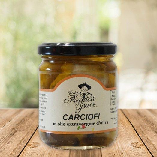 Carciofini in olio extravergine d'oliva, 200 gr - Frantoio Pace