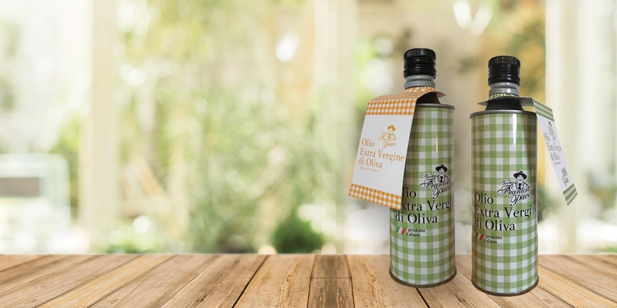 Vendita Olio Extravergine di Oliva, bottiglie in latta, e prodotti pugliesi - Frantoio Pace