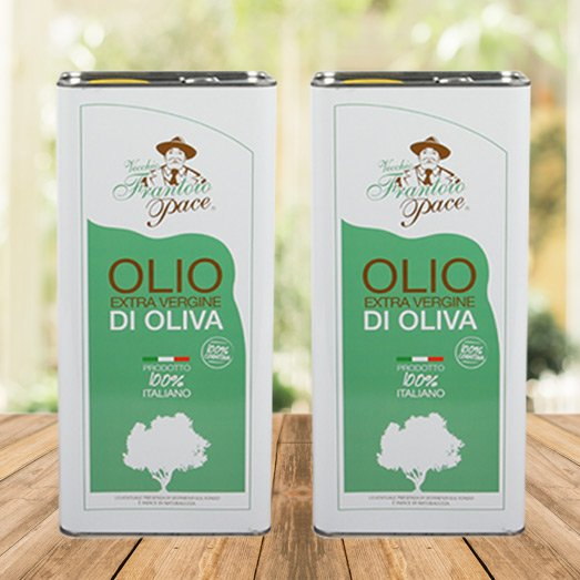 Olio EVO sapore intenso 10 lt - 2 Lattine da 5 lt - Frantoio Pace