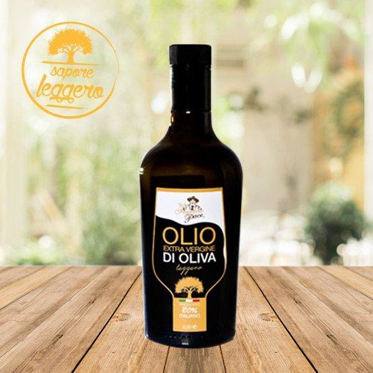 Olio EVO Sapore Leggero, Bottiglia in vetro 0,5 lt -Frantoio Pace