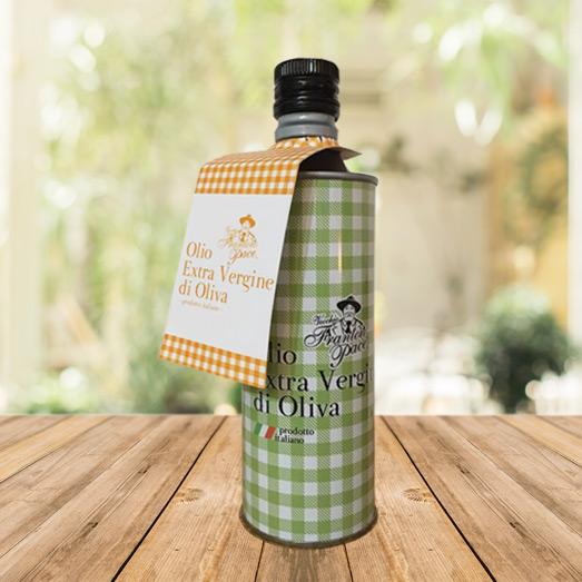 Olio EVO fruttato leggero 0.5 lt - Bottiglia in alluminio - Vecchio Frantoio Pace