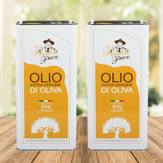 Delicate Fruity Extra Virgin Olive Oil 10 Litres tin can - 2 x 5 Litres tin can - Vecchio Frantoio Pace
