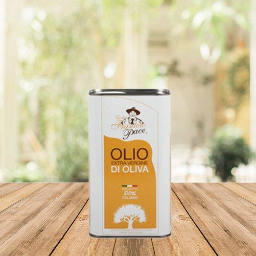 Olio EVO sapore leggero 1 lt - Latta - Frantoio Pace