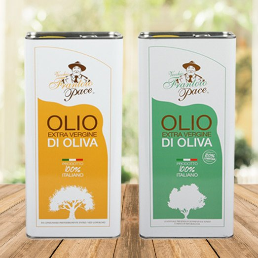 Delicate and Intense Fruity Extra Virgin Olive Oil 10 Litres tin can - 2 x 5 Litres tin can - Frantoio Pace