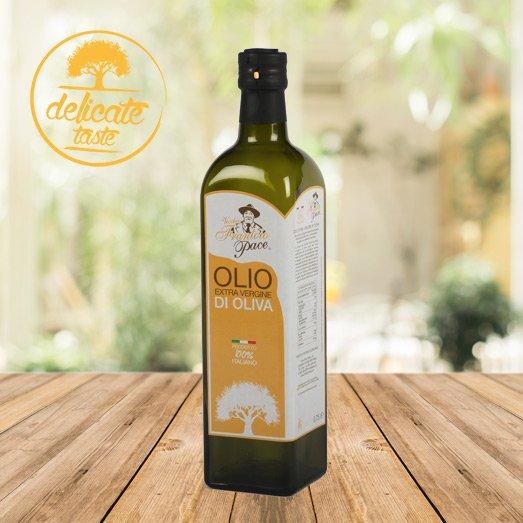 Delicate Taste Extra Virgin Olive Oil 0.75 Litre - Glass bottle - Frantoio Pace