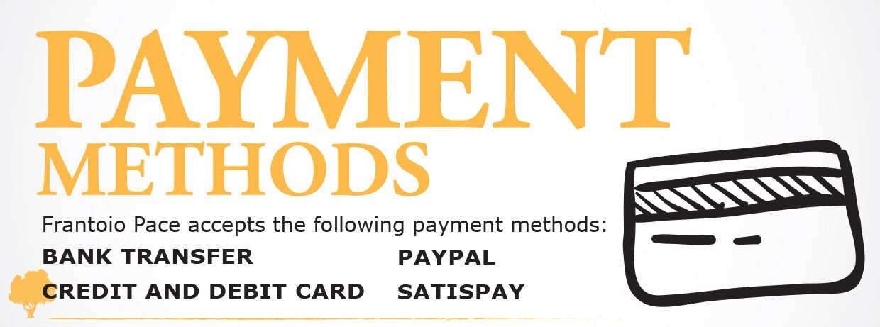 Vecchio Frantoio Pace - All Payment methods accepted