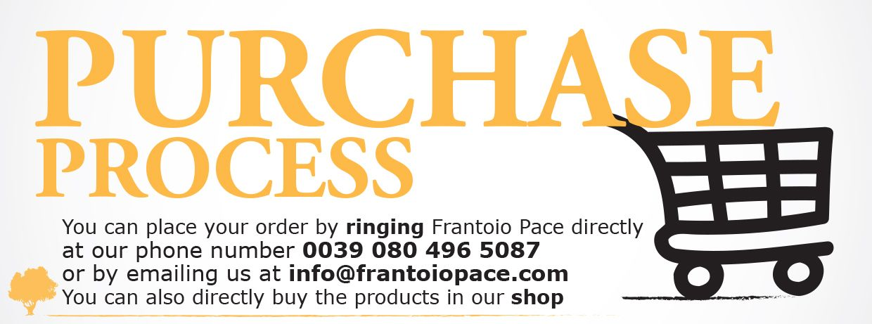 Vecchio Frantoio Pace - How to make your purchase - purchase process