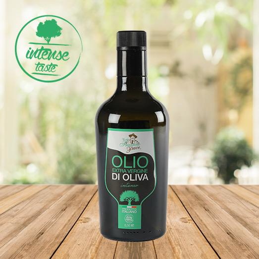 Intense Taste Extra Virgin Olive Oil 0.5 Litre - Glass bottle - Frantoio Pace
