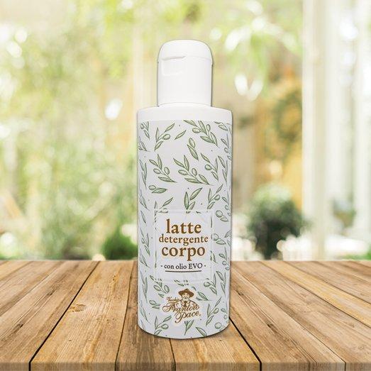 Latte detergente corpo con Olio di Oliva - Linea Cosmetica Biologica - Frantoio Pace