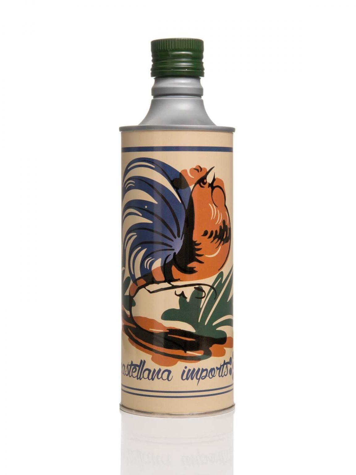 Olio Extravergine di Oliva sapore leggero 0.5 lt - Elegante grafica gallo - Frantoio Leone Pace - Olio dal 1910 - Frantoio Pace