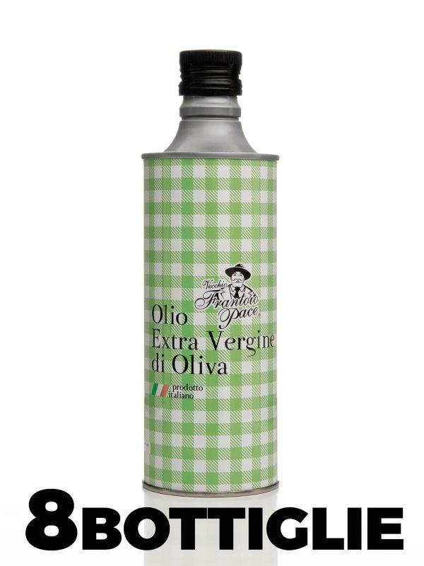 Olio Extravergine di Oliva sapore intenso 0.5 lt Set 8 Bottiglie Alluminio - Frantoio Leone Pace - Olio dal 1910 - Frantoio Pace