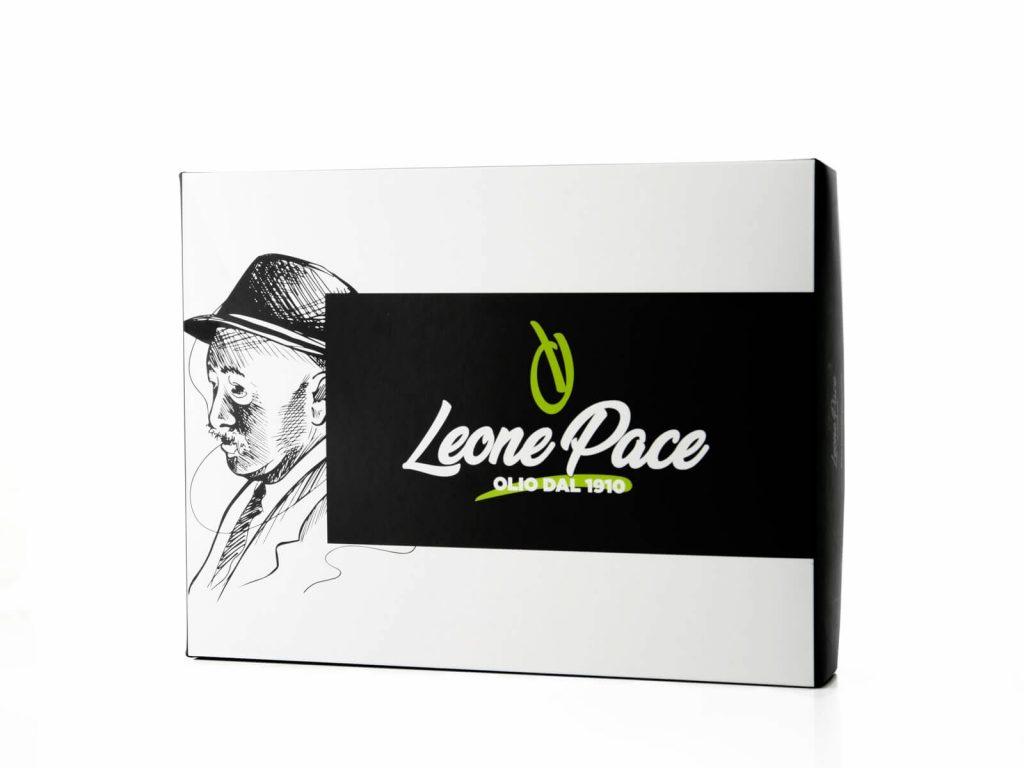 Olio EVO 1910 - Sapore Leggero, Box - Idea regalo - con 3 Bottiglie in vetro 0,5 lt - Frantoio Leone Pace - Olio dal 1910 - Frantoio Pace