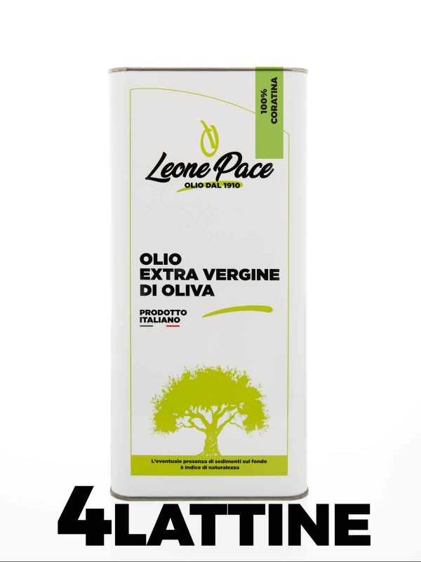 Olio EVO Pugliese sapore intenso 20 lt - 4 Lattine da 5 lt -