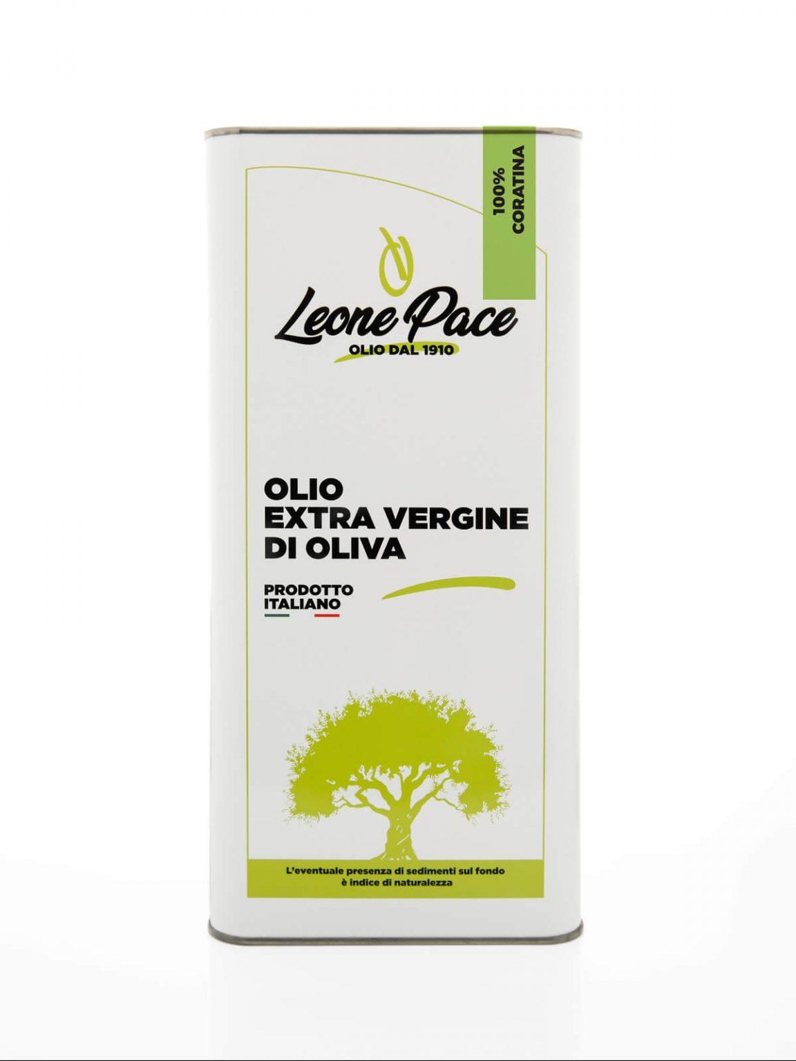 Olio EVO sapore intenso 5 lt - Latta - Frantoio Leone Pace - Olio dal 1910 - Frantoio Pace