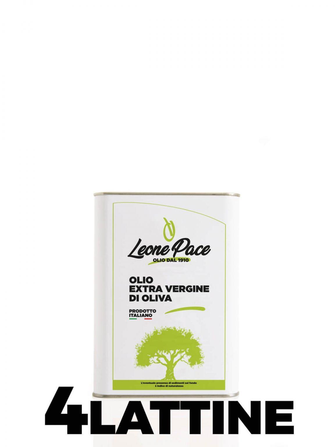 Olio EVO sapore leggero 3 lt Latta - Frantoio Leone Pace - Olio dal 1910 - Frantoio Pace
